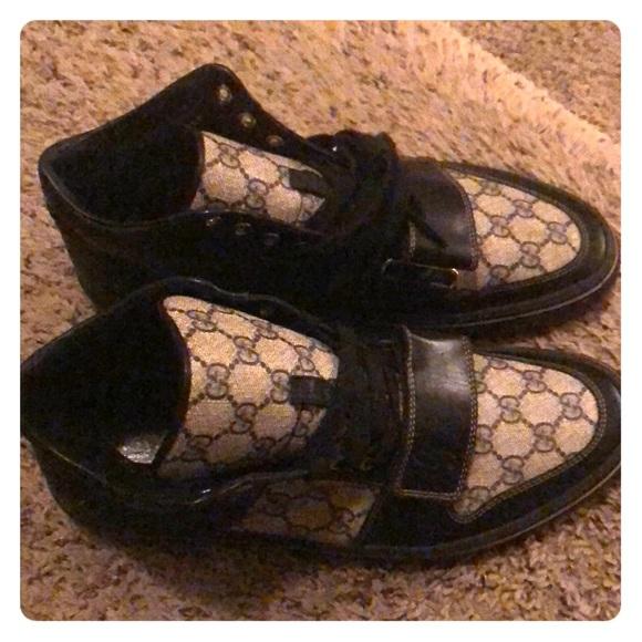Gucci Shoes - Gucci high top monogram fashion